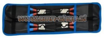 UNIOR KLEŠČE SEGER ART.539PLUS/4DPCT Gar. torbica, 4 kos, fosfatirane. 180 mm (19-60 mm)