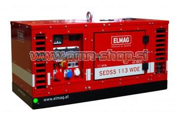 Elmag Elektro agregat SEDSS 113WDE s KUBOTA-motorjem D722 (super-zvočno izoliran)