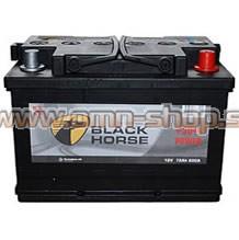 Black Horse 75AH, 12V D+ 680EN CALCIUM akumulator