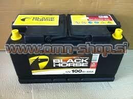 Black Horse 100AH 12V D+ 800EN CALCIUM akumulator