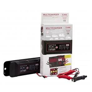 Elmag Avtomatski polnilec akumulatorjev 6/12 V , MULTICHARGER 14120, max. 1,0/4,5 A.