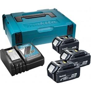MAKITA SET BL1840x3, DC18RC Baterijski paket z polnilnikom v kovčku