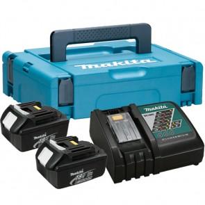 MAKITA SET BL1830x2, DC18RC Baterijski paket z polnilnikom v kovčku