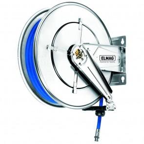 Elmag INDUSTRIE cevni navijalec INOX 532/21 za komp.zrak in vroč. vodo 100°C,  20 m, 1/2